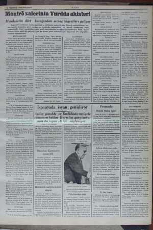 23 TEMMUZ 1936 PERŞEMBE ULUS Montrö zaferinin Yurdda aîılslerl Memleketin dört bucağından sevinç telgrafları geliyor...