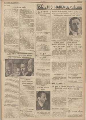 : 29 AĞUSTOS 1936 CUMARTESİ ———————< Yarı - Sıyasal Avrupanın nabzı 'nsanlık mizac değiştirdi. 1914 İn bir. tal ör aym Avru