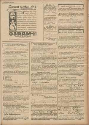 1 İLKKANUN 1936 SALI gm Genvirat reçetesi No? 1 is ULUS 5 Kiralık Ev enişehirde Mimar Kemal karşısında Bahçeli ve ajlt...