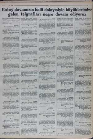 4-2.1937 latay davamızın halli dolayısiyle büyüklerimi gelen telgrafları neşre devam ediyoruz kımızın bugünkü sevinç ve...