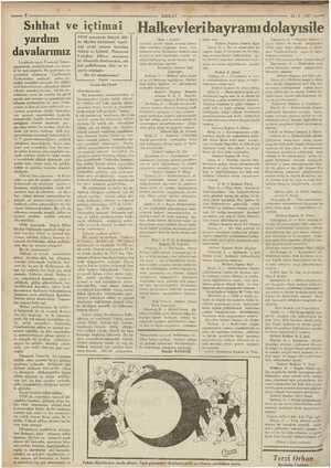 V yardım davalarımız  ; -ada çıkan Financial Times, geçenlerde, memleketimiz için husu- si bir ayı neşretti. Bu gazetenin bu