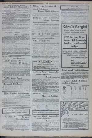 —— 3.3.1937 Kapalı Zarfla Elektrik eksiltmesi Havza Belediye Riyasetinden: 1 — Havza şehri elektrik tesisatı Nafia —...