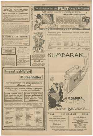 — 8 em Mahkemesinden : ve saatta Ankara asliye a ei manız TÜRK HAVA KURUMU BÜYÜK NGOSU 3 üncü keşide 11 temmuz 1937 dedir.