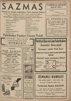 29.10.1937 malzemesi, demir inşaat ve saire Siemens-Schuckerfwerke A. G, Buckau R. Wolf A. G. J.M. Voith Fabriken A. G....