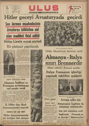 A LILIĞİ ZUU YA LA V ULOLUK y CU0EA g cg,u Sen Jermen muahedesinin Avusturya istiklâline aid z B G eg B Puf Hu