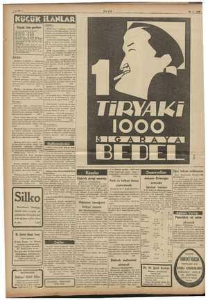 ULUS 16 - 3 - 1988 Küçük ilân şartları Dört satırlık küçük ilânlardan; Bir defa ii e 30 kuruş yide def ku: kelime mr...