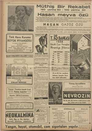 Gl ULUS 20-3 - 1938 Müthiş Bir Rekabet 16O yerine 60 100 yerine 40 İstihzar usulünde bizzat Eczacı HASAN'ın Londrada elde