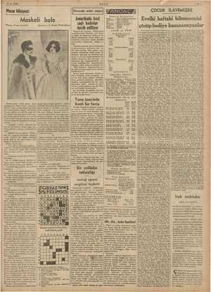 2-5-1938 ULUS ZA Macar hikâyesi: ÇOCUK İLÂVEMİZDE i İ ı bilmecemizi Maskeli balo Evelki haftaki bi Yazan: Franz Fendrik