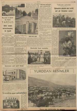 ULUS 8-6.1938 Bayındır ve güzel bir kaza: TARSUS Bütün modern tesisala kavuşmuş v- rd: suni gölden bir görünüş, solda,:| been