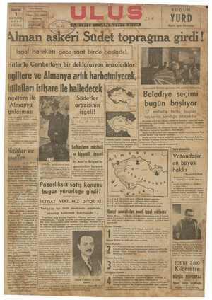 [ Işgal hareketı gece saat birde başladı H ı Hitler'le Çemberlayn bir deklarosyon ımzaladılar ngiltere ve Almanya artık harbetmiyecek,