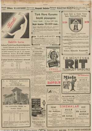 kün. sil RT TAT iEyM ULUS 17-2. 1939 Musiki ipsi â i (1 Adliye sarayı caddesi Gença en Bilhassa BLAUPUNKT iöyeeiz Blanpunkt