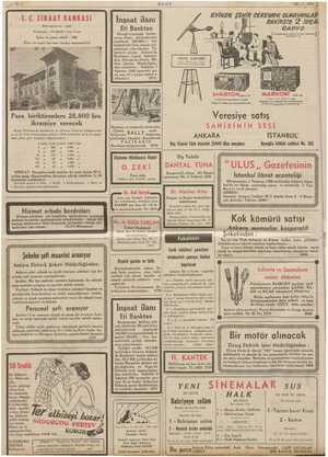 m 12 ULUS 12317:1959 T.C. ZİRAAT BANKASI Kuruluş târihi 41888 Sermayesi : 100.000.000 Türk lirasr Şube ve ajans adedi : 2