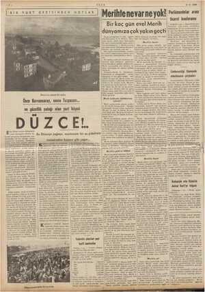 5 — ULUS 2-8-1939 BİRR GEZİSİNDEN NOTLAR | Parlâmenlolar arası ticaref konferansı nevarne Bir kaç gün evel Merih çok yakın