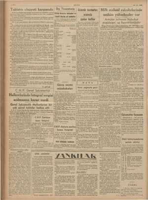 —2— ULUS 29-12-1939 Milli mahsül rekoltelerinde mühim yükselmeler var Artışlar bilhassa hububat maedeleri, ve bayii
