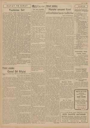KE YE YE O 29-12-1939 Ç RADYO | r U E na Me yi HAYAT VE SIHAT ÜR. Er | İlisadi bahisler: Harpte umumi fiyat yükselişine karsı
