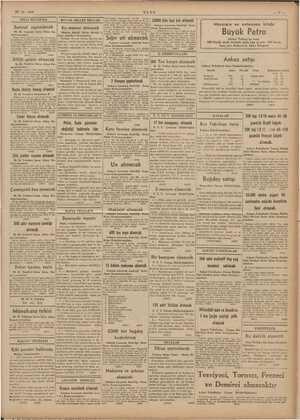 """""""5. , 29-12.1939 ULUS 24000 kilo keçi kılı alinacak Satm Mevsimin en enteresan kitabı B üyü ük Petro 286 ve oi. linde ln"""
