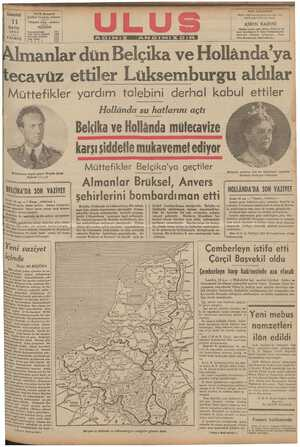AA AUA AAA GA GA A l ASA ASSS W tf h d U SKK AAA 5 Ca EaR , D CaC ecavüz ettiler Lüksemburgu aldılar Muttefıkler yardım talebini derhal kabul ettiler   Hollânda su hatlarını açtı &M
