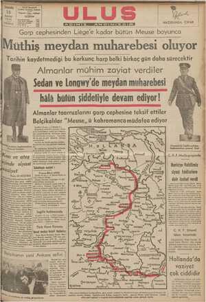 üthiş meydan muharebesi oluyor Tqrihin kaydetmediği bu korkunç harp belki birkaç gün daha sürecektir Almanlar mühim zayiat verdiler . (| E Ö Te YOSMR ON - * Ki öhp 3 drt a. MAi ada ) 2 A e z A el