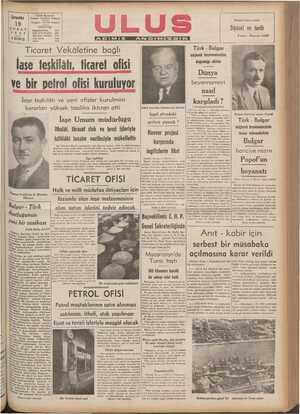 """laşe teşkilatı, ficaret ofisi BB ğ <- : Dünya B .o. k , ve bir petrol ofisi kuruluyor Ha ası İaşe teşkilâtı ve yeni ofisler kurulması karşıladı"""" kararları yüksek tasdika iktıran etti Sabık Amarika Cümhurraisi Hoovar dd İşgal altındaki"""