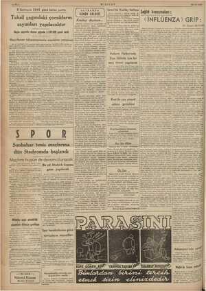 KIZILAY 23/10/1941 8 Sonteşrin 1941 günü bütün yurtta İzmir'de Kızılay BAYRAMDA   GÜNÜN GÖLGESİ 2 Kızılay deyince... Sağlık