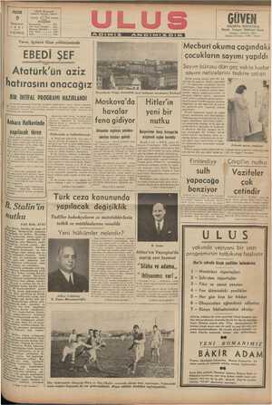 ULUS Basrmevi Çankırı Caddesi, Ankara PAZAR 9 Sonteşrin 941 GÜVEN SİGORTA SOSYETESİ Hayat - iy Nakliyat -Kaza kara:...