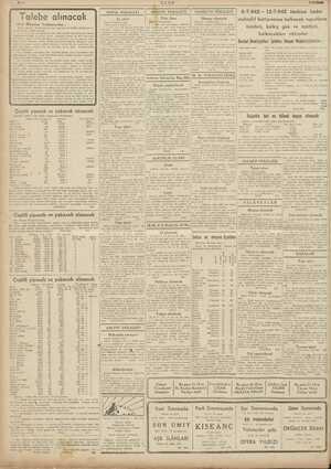 6-7-942— 12-7-942 tarihine kadâr muhtelif hatlarımıza kalkacak vapurların e erp m e isimleri, kalkış gün ve saatleri,...
