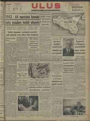 nyan 7 ri MK Cuma günü: j ğ Telgraf * ULUS Ankam N € e > — — > EKONOMİ | | 1943 Müessese idürü. 1144 sn er Sayfamız |...