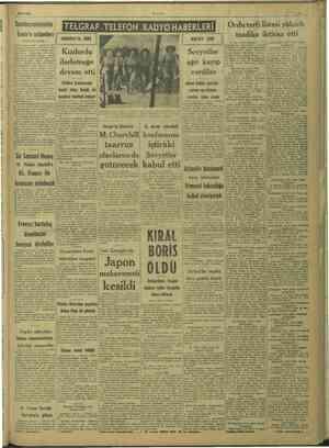 B m i E m m TERE ET srazx TP © S © 29/8/1943 ULUS Cumhuzreisimizin   İzmir'e selâmları (Başı 1 nci sayfada; TELGRAF....