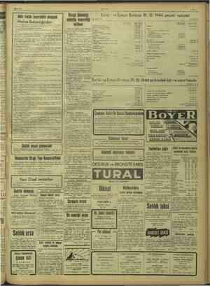 19/3/1945 ULUS Milli Elâ an İktisat Bakanlığı miâ'x ve Eytam Bankası 31-12-1944 umumi vaziyeti illi Emlâk kentrolürü almacak