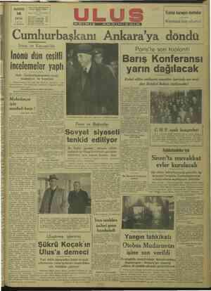 MEZ... £ MÜESSESES) Ti CH LUS ç im pidesi Ankara | pazaRres Telgraf adresi. Ulus Ankar, Başyazarlık Yazı İşleri Müdürlü i