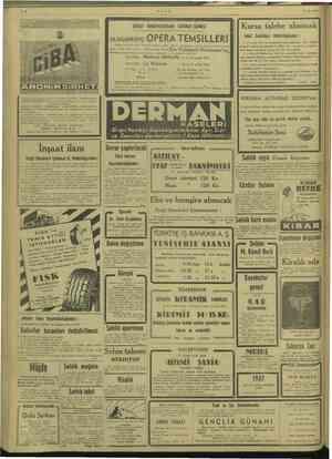 ULUS 10/12/1946 hi İl KE li ni DEVLET KONSERVATUVARI TATBİKAT SAHNESİ OLAĞANÜSTÜ ik geen TEMSİLLERİ Devlet Konservatuvar