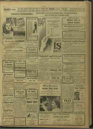 5/1/1947 ULUS —U1— CESİT MAĞAZASI Sayın Ankara halkından gördüğü büyük rağbefe bir mukabelei şükran (İK(ÜİDJK MANTO GİYİM