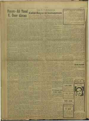 ULUS 29/6/1947 i | A i BP: Ki i ! W. Sivas D. P. Kohgresinde ANAT biti j is j Bl Niall 5 ve EDEBİYAT GAZETESİ'nin i i 2
