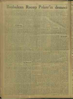 ULUS 29/8/1947. İl Başbakan Recep Peker'ın demeci n # Başı 2 inci sayfada. artar  italdasında bazan lemesi ise diğeri de o