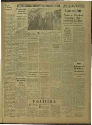 dö 21/3/1947 Büyük bir buhran karşısında * Ba e kendisini derin bir kuyunun müştür. içine ti Bu dur ki UL Yi sirleri eri...