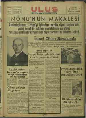 CELP, ULUS MÜE: Çankırı Caddesi PAZARTESİ SESİ Ankara Telgraf adresi: Ulus Ankara razarlık İşleri Müdürlüğü İşleri KIZ I I