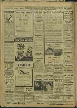 | | | | | | ! İ İ ULUS 15/11/1947 Sayın halkımızın dikkatine Taksitle lar, çocuk e 1 inci sıni çeşitlerimizi ve...