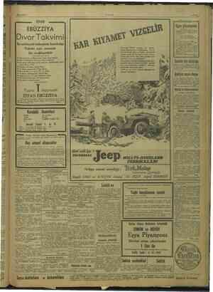 20/11/1947 EBÜZZİYA Dıvar Takvimi En salâhiyetli kalemlerin hazırladığı s Eşya piyangosu Hiç şüpi pi ANKARA Bem or z & vi...
