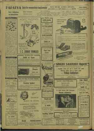 ULUS PAPATYA Taksitle muameleye başlamıştır Mantolar, yünlü roplar, çay elbiseleri, model tuvaletler, çocuk manfoları...