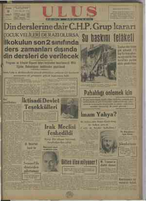OH.P. ULUS folgrat süresi: U ŞUBAT 1948 pi KURUŞ a şleri 1ücascs© DA | (15) de Scan Kil toplandı. 1— yoru ile teklif üç...
