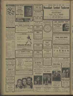 ULUS 25/4/1948 UN NN pa Perihan Altındağ ÖZERİ Bomonti Gazinosunda ai Soldan —— Gile 1 — Şile Kek — Me 6 —Le PAZAR 28