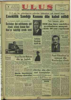 "PERŞEMBE | GC. H. P. Ulus Müessesesi EE ie ULUS'un Abone Şartları Me ileket iğ. . v > : i Haziran 1949 ""Memleket eğ — 12"
