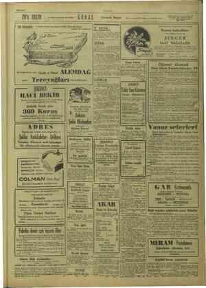 26/7/1949 ZYA ERLER Sus Sineması karşısında açmış olduğu G d R A l ULUS EN MAKBUL LİNE ve üstün kalite tereyağının İNEK...