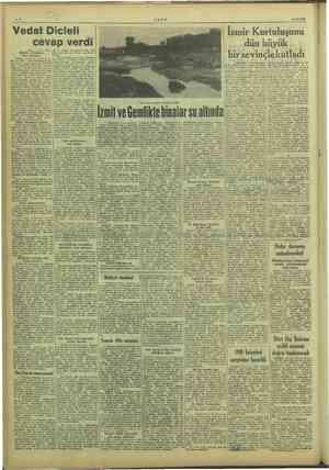 kay ULUS 10/9/1949 Vedat Dicleli cevap verdi inçi sayfada) |$50 bir azalış kaydederek 300 - 350 İstihelime bin tona düşmüş