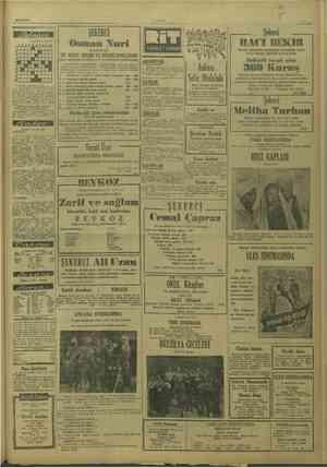 1/10/1949 Tertibeden * M. M. 1234547839 ŞEKERCİ Osman Nuri ULUS Suuyaukunu MR — 2. 10. 1949 SAD A. 8. Ayan, Haberler ve...