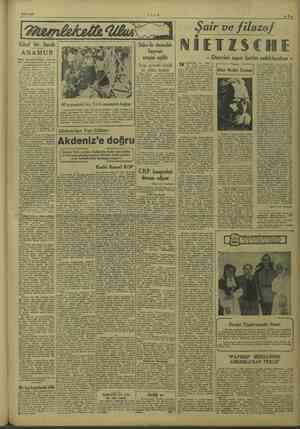 8/10/1949 ULUS Boamlekelia Ulak Güzel bir bucak ANAMUR Halk, kayı 'makamlıkça hazıria- man yol programının bir an ön...