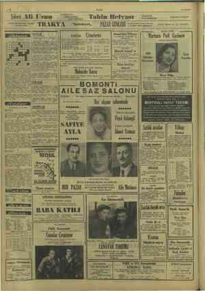i —a ULUS 10/12/1949 : | : pi VANİLYALI . mize il Hi yeti i | Şekerci Ali T KALILI nı Tahin Helvası kendi imalâtıdır. Akal