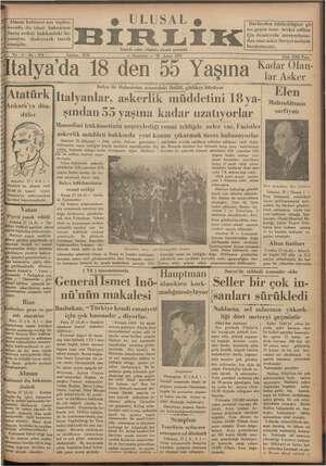 2 Alman kabinesi son tısında, dış işleri bakanının Sarın avdeti hakkındaki be- ç dinleyerek tasvib dir. etmişi Yıl:2-No:374