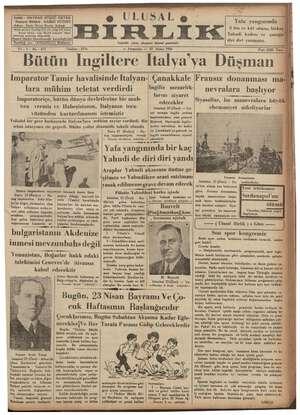 Sahibi : HAYDAR RÜŞDÜ ÖKTEM Neşriyat Müdürü : HAMDİ NÜZHET Adres : İzmir İkinci Beyler Sokağı Abone m e m — e 400 kuruş...