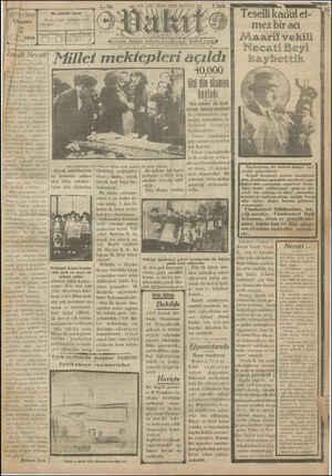 Vakit Gazetesi 2 Ocak 1929 kapağı
